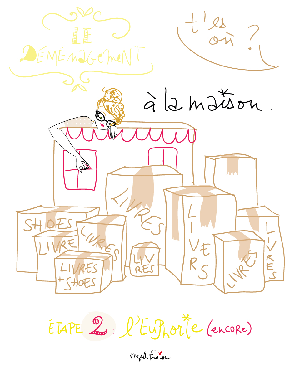 Le d m nagement part 2 mzelle fraise illustratrice - Carton demenagement paris ...