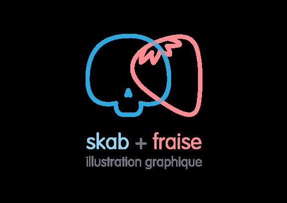 skab+fraise illustration graphique