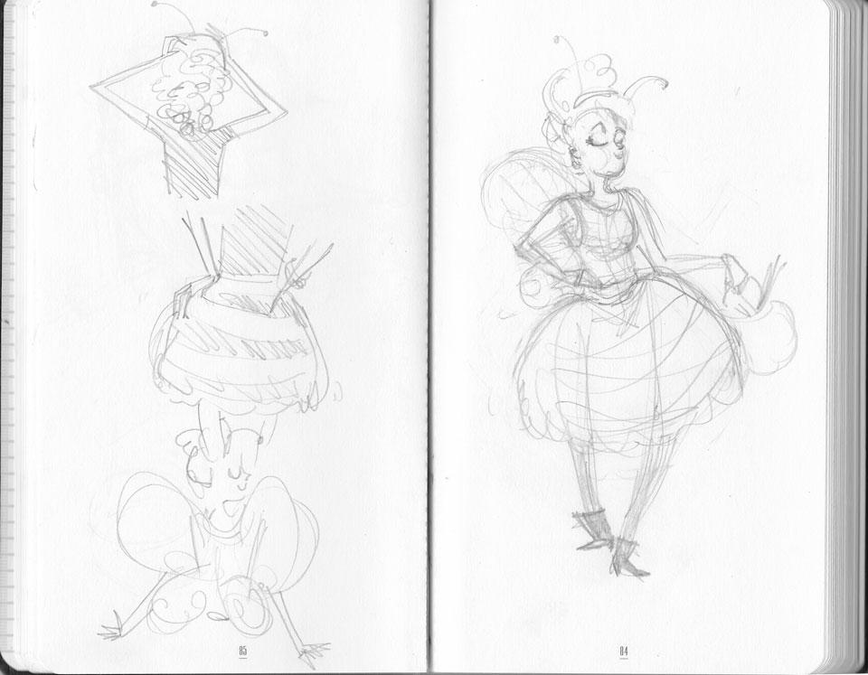 abeille-sketch