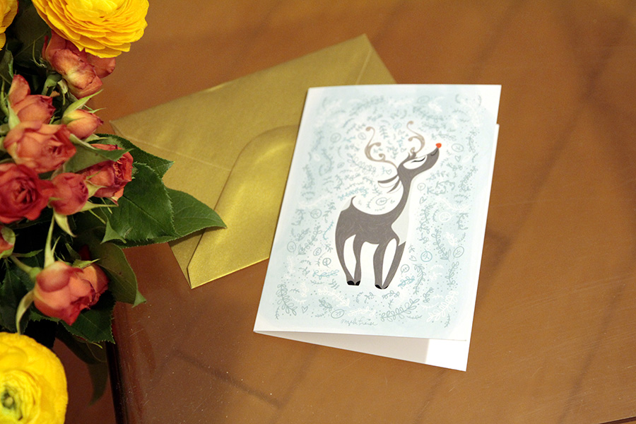 carte de voeux Rudolf