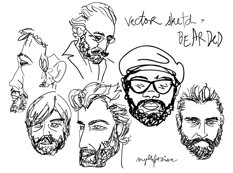 vector-sketch-bearded